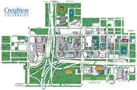 creighton campus map